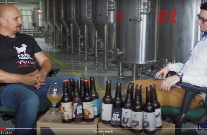 Interviu VIDEO cu Ionel PĂSĂRICĂ, fondator berăria Capra Noastră –  bere artizanală